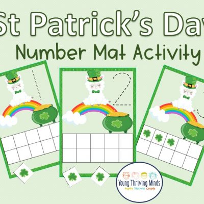 St. Patricks day Number Mat activity